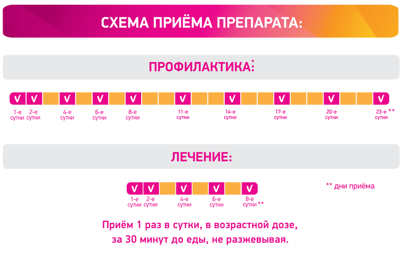 Схема приема Циклоферона